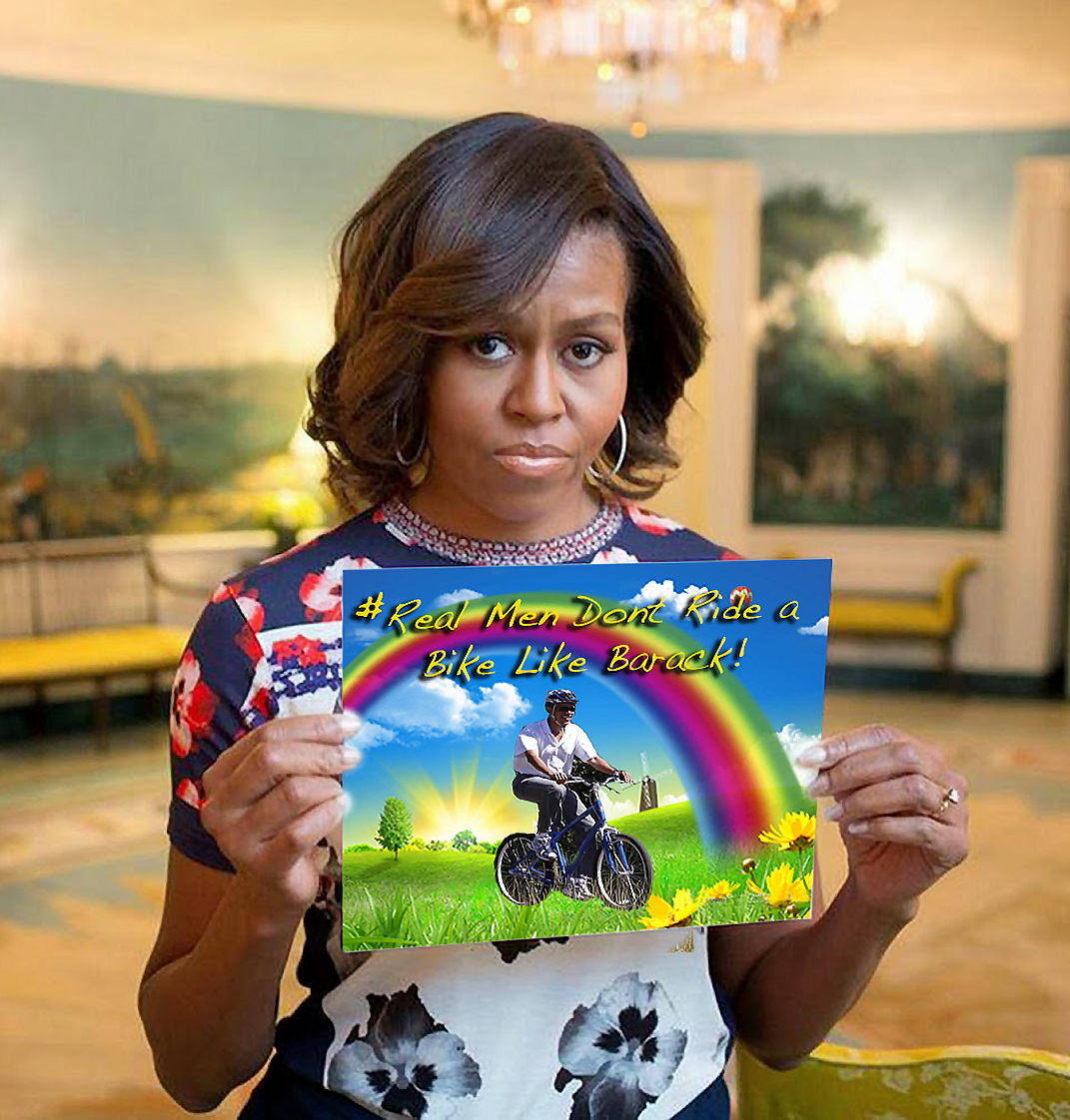 obama photoshop fun round 2�michelle obama hashtag pic